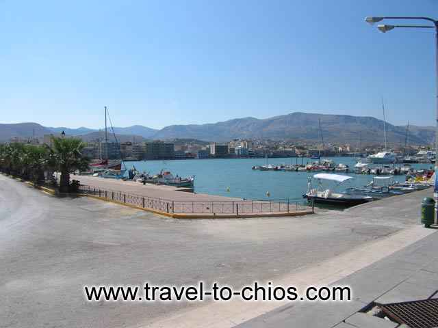 CHIOS PORT - View of the port of Chora (Chios town) in Greece