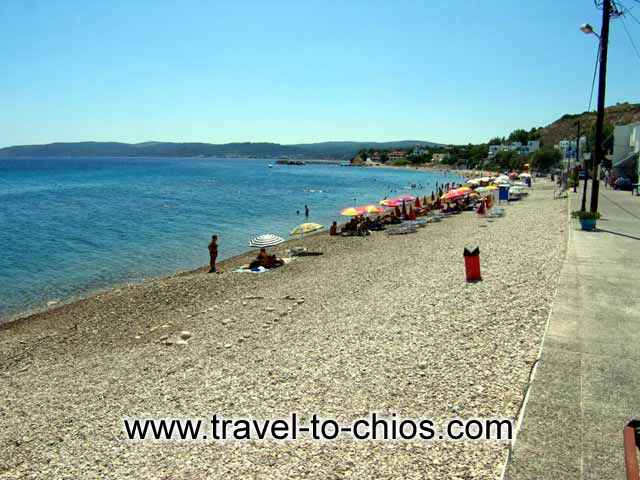 AGIA FOTIA - The beacutiful beach of Agia Fotini (or Agia Fotia) in Chios island Greece