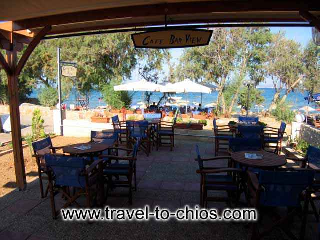 The bar - restaurant, of Karfas bay view apartments, is next to the beach of Karfas Village CLICK TO ENLARGE