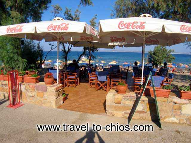 The beach bar - cafe of Karfas bay view Studios CLICK TO ENLARGE