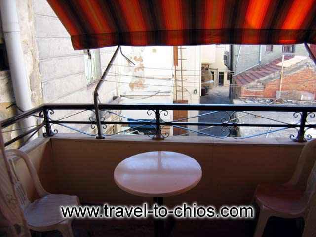 Vila Maro room's balcony image CLICK TO ENLARGE