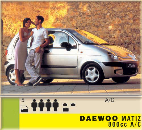 Daewoo Matiz 800cc - A/C CLICK TO ENLARGE