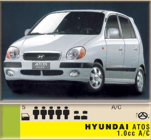 Hyundai Atos 1.0cc - A/C CLICK TO ENLARGE