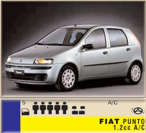 Fiat Punto 1.2cc - A/C CLICK TO ENLARGE