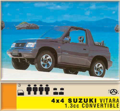 4x4 Suzuki Vitara 1.3cc - Convertible CLICK TO ENLARGE