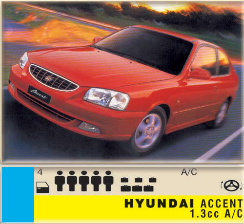 Hyundai Accent 1.3cc - A/C CLICK TO ENLARGE