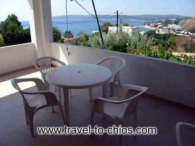 Vassilikos Apartments balcony image CLICK TO ENLARGE